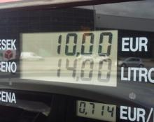 strošek vožnje na avtoplin